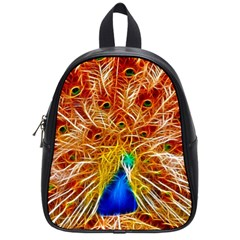 Fractal Peacock Art School Bags (small)  by BangZart