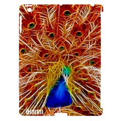 Fractal Peacock Art Apple Ipad 3/4 Hardshell Case (compatible With Smart Cover) by BangZart