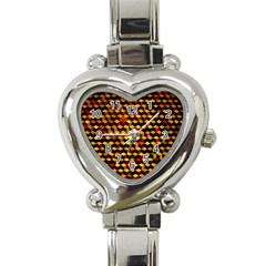 Fond 3d Heart Italian Charm Watch by BangZart