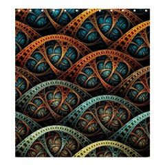 Fractal Art Pattern Flower Art Background Clored Shower Curtain 66  X 72  (large)  by BangZart