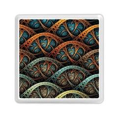 Fractal Art Pattern Flower Art Background Clored Memory Card Reader (square)  by BangZart