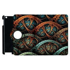 Fractal Art Pattern Flower Art Background Clored Apple Ipad 2 Flip 360 Case by BangZart