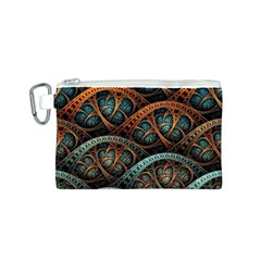 Fractal Art Pattern Flower Art Background Clored Canvas Cosmetic Bag (s) by BangZart