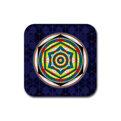 Flower Of Life Universal Mandala Rubber Square Coaster (4 Pack)  by BangZart