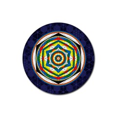Flower Of Life Universal Mandala Rubber Round Coaster (4 Pack)  by BangZart