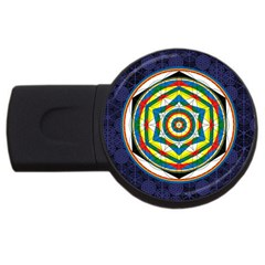 Flower Of Life Universal Mandala Usb Flash Drive Round (2 Gb) by BangZart
