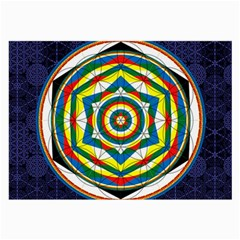 Flower Of Life Universal Mandala Large Glasses Cloth (2 Side) by BangZart