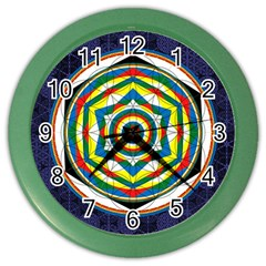 Flower Of Life Universal Mandala Color Wall Clocks by BangZart
