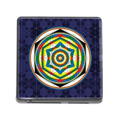 Flower Of Life Universal Mandala Memory Card Reader (square) by BangZart