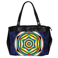 Flower Of Life Universal Mandala Office Handbags (2 Sides)  by BangZart