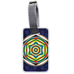 Flower Of Life Universal Mandala Luggage Tags (one Side)  by BangZart
