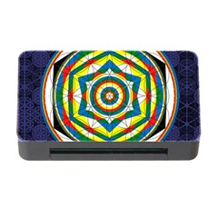Flower Of Life Universal Mandala Memory Card Reader With Cf by BangZart