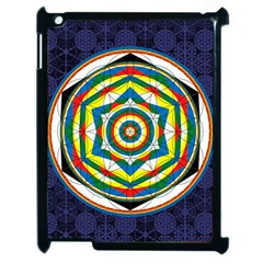 Flower Of Life Universal Mandala Apple Ipad 2 Case (black) by BangZart