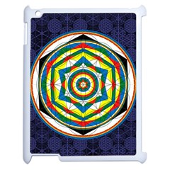 Flower Of Life Universal Mandala Apple Ipad 2 Case (white) by BangZart