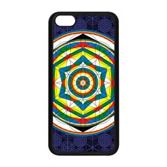 Flower Of Life Universal Mandala Apple Iphone 5c Seamless Case (black) by BangZart