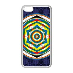 Flower Of Life Universal Mandala Apple Iphone 5c Seamless Case (white) by BangZart