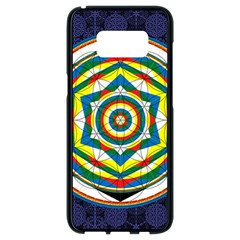 Flower Of Life Universal Mandala Samsung Galaxy S8 Black Seamless Case by BangZart