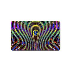 Curves Color Abstract Magnet (name Card) by BangZart