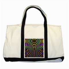 Curves Color Abstract Two Tone Tote Bag by BangZart