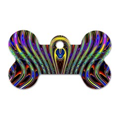 Curves Color Abstract Dog Tag Bone (two Sides) by BangZart