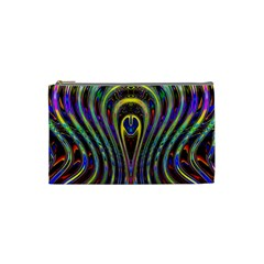 Curves Color Abstract Cosmetic Bag (small)  by BangZart