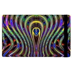 Curves Color Abstract Apple Ipad 2 Flip Case by BangZart