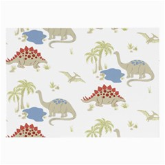Dinosaur Art Pattern Large Glasses Cloth (2 Side) by BangZart