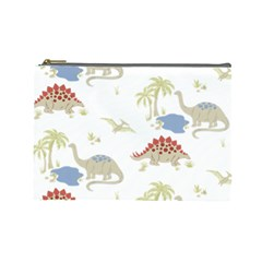 Dinosaur Art Pattern Cosmetic Bag (large)  by BangZart