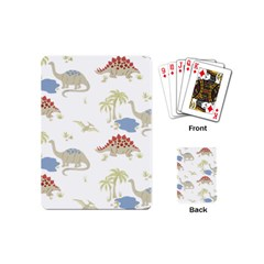 Dinosaur Art Pattern Playing Cards (mini)  by BangZart