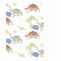 Dinosaur Art Pattern Large Garden Flag (two Sides) by BangZart