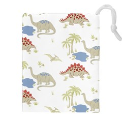 Dinosaur Art Pattern Drawstring Pouches (xxl) by BangZart