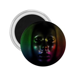Digital Art Psychedelic Face Skull Color 2 25  Magnets by BangZart