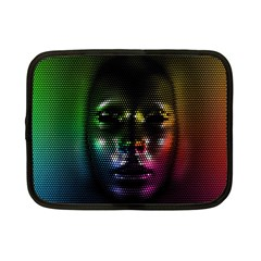 Digital Art Psychedelic Face Skull Color Netbook Case (small)  by BangZart