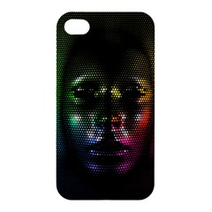 Digital Art Psychedelic Face Skull Color Apple Iphone 4/4s Premium Hardshell Case by BangZart