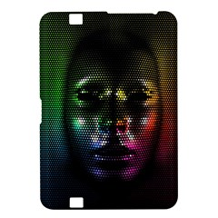Digital Art Psychedelic Face Skull Color Kindle Fire Hd 8 9  by BangZart