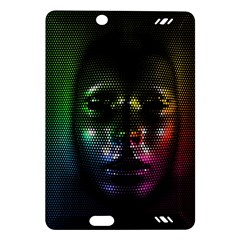 Digital Art Psychedelic Face Skull Color Amazon Kindle Fire Hd (2013) Hardshell Case by BangZart