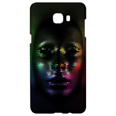 Digital Art Psychedelic Face Skull Color Samsung C9 Pro Hardshell Case  by BangZart