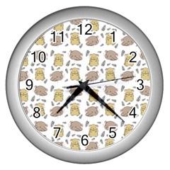 Cute Hamster Pattern Wall Clocks (silver)  by BangZart