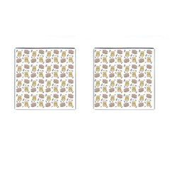 Cute Hamster Pattern Cufflinks (square) by BangZart