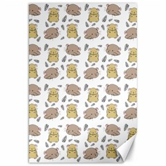 Cute Hamster Pattern Canvas 20  X 30   by BangZart