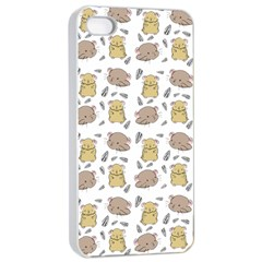 Cute Hamster Pattern Apple Iphone 4/4s Seamless Case (white) by BangZart