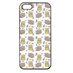 Cute Hamster Pattern Apple Iphone 5 Seamless Case (black) by BangZart