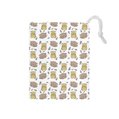 Cute Hamster Pattern Drawstring Pouches (medium)  by BangZart