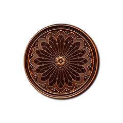 Decorative Antique Gold Rubber Round Coaster (4 Pack)  by BangZart