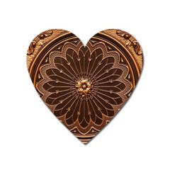 Decorative Antique Gold Heart Magnet by BangZart