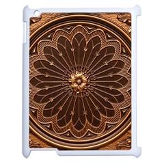 Decorative Antique Gold Apple Ipad 2 Case (white) by BangZart