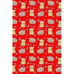 Cute Hamster Pattern Red Background 5 5  X 8 5  Notebooks by BangZart