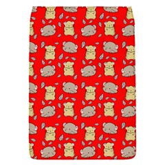 Cute Hamster Pattern Red Background Flap Covers (s)  by BangZart
