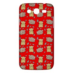 Cute Hamster Pattern Red Background Samsung Galaxy Mega 5 8 I9152 Hardshell Case  by BangZart