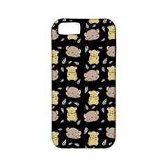 Cute Hamster Pattern Black Background Apple Iphone 5 Classic Hardshell Case (pc+silicone)